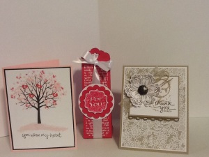 Greeting card and goodie bag